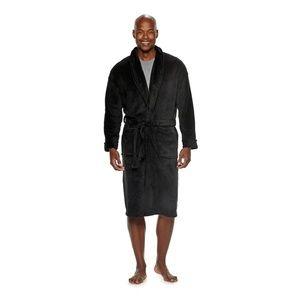 Men's Black  Bathrobe Bath robe Large/Extra Large
